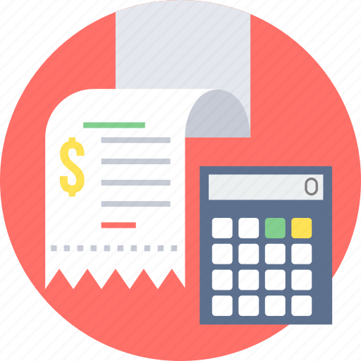 bill, billing, calculation, invoice, receipt icon