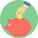 bank, money, piggy, saving, savings icon