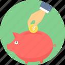 saving, bank, money, piggy, savings