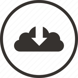 arrow, cloud, control, down, download, save icon icon