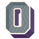 3d alphabet, 3d letter, alphabet letter o, capital letter o, o icon