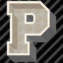 3d alphabet, 3d letter, alphabet letter p, capital letter p, p icon