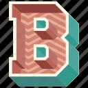 3d alphabet, 3d letter, alphabet letter b, b, capital letter b icon