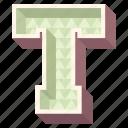 3d alphabet, 3d letter, alphabet letter t, capital letter t, t icon