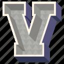 3d alphabet, 3d letter, alphabet letter v, capital letter v, v icon