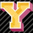 3d alphabet, 3d letter, alphabet letter y, capital letter y, y icon
