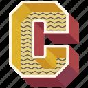 3d alphabet, 3d letter, alphabet letter c, c, capital letter c icon
