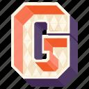3d alphabet, 3d letter, alphabet letter g, capital letter g, g icon