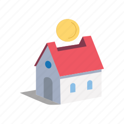 bank, fund, home, house, invest, money, saving icon