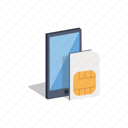 carrier, connection, mobile, network, phone, sim, sim card icon
