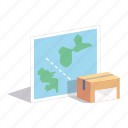 box, cargo, delivery, global, international, shipment, shipping icon