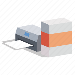fax, fotochopy, office, output, photocopy, printer, scanner icon