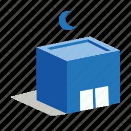cargo, depot, night, storage, warehouse icon