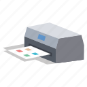 fax, office, output, photocopy, printer, scanner icon