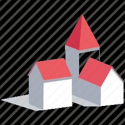 city, house, houses, neighborhood, town, village icon
