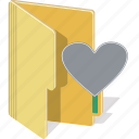 directory, document, folder, heart, like, love icon