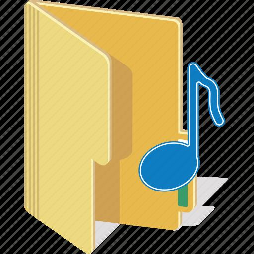 directory, document, folder, music, sound icon
