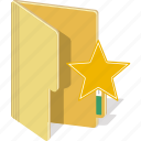 directory, document, faus, favorite, file, star icon