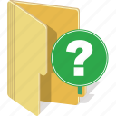ask, directory, document, faq, file, folder icon