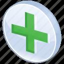 add, ambulance, care, create, cross, equipment, expand, green, health, help, hospital, make, meanicons, medical, medicine, new, ok, pharmacy, plus icon