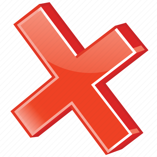 basket, cancel, cancelled, clean, clear, close, control, cross, delete, dustbin, empty, erase, eraser, err, error, exit, invalid, no, recycle, reject, remove, stop, terminate, termination, trash, wrong icon
