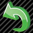 arrow, back, chargeback, edit, history, left, previous, redo, refund, restore, reverse, revert, rollback, rotate, turn, undo icon
