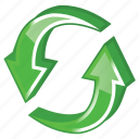 arrow, arrows, change, exchange, refresh, reload, renew, sync, synchronize, update icon