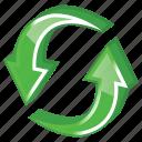 arrow, arrows, change, exchange, refresh, reload, renew, sync, synchronize, update icon