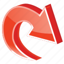 arrow, arrows, back, cycle, direction, forward, go, move, navigation, recycle, redo, refresh, reload, repeat, restore, revert, right, rotate, rotation, sync, synchronize, turn, update icon