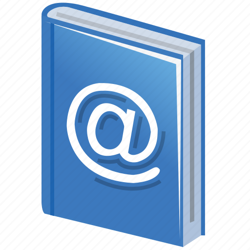 address, addresses, book, contact, contacts, email, friends, list, mail list, yellow page icon