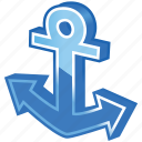 anchor, boat, breaks, marina, marine, nautical, navy, port, sea, sea port, seaport, ship, shipping, submarine, water icon
