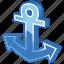 anchor, boat, breaks, marina, marine, nautical, navy, port, sea, sea port, seaport, ship, shipping, submarine, water icon