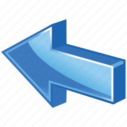 arrow, back, left, move, previous, rollback icon