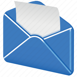 email, envelope, letter, mail, open mail, send, spam, unpack icon
