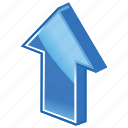 arrow, enlarge, grow, up, upload icon