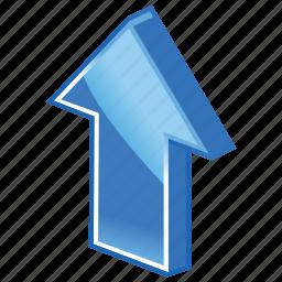 arrow, enlarge, grow, up, upload icon