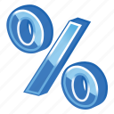 blue, part, percent icon