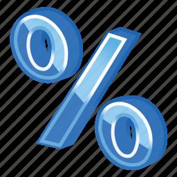 blue, part, percent icon