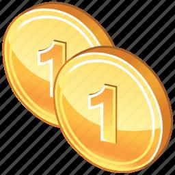 cash, coins, gold, invest, money, richment, treasure icon