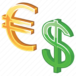 business, cash, conversion, currency, dollar, dough, euro, finance, international, money, moneys, payment icon