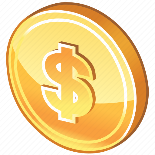 cash, coin, currency, dime, dollar, dollar coin, guardar, money, payment, price, save icon
