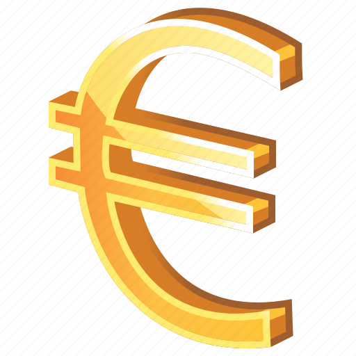 cash, currency, euro, gold, golden, money, price icon