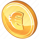 cash, cent, coin, currency, dollar coin, euro, euro coin, german, gold, gold coin, money icon
