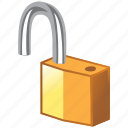 access, unlock, opened, password, lock, open, broken, security, secure
