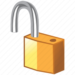 access, broken, lock, open, opened, password, secure, security, unlock icon