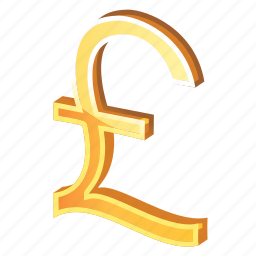 currency, england, english, gold, money, pound, sterling icon