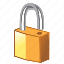 open, open lock, opened, password, protection, secure, security, unlock, unlocked icon