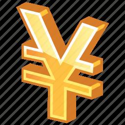 cash, currency, gold, golden yen, japan, japanese, money, yen icon