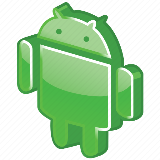 android, droid, glossy, robot, robotics icon