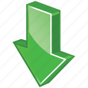 download, now, down, downloads, arrow, glossy icon